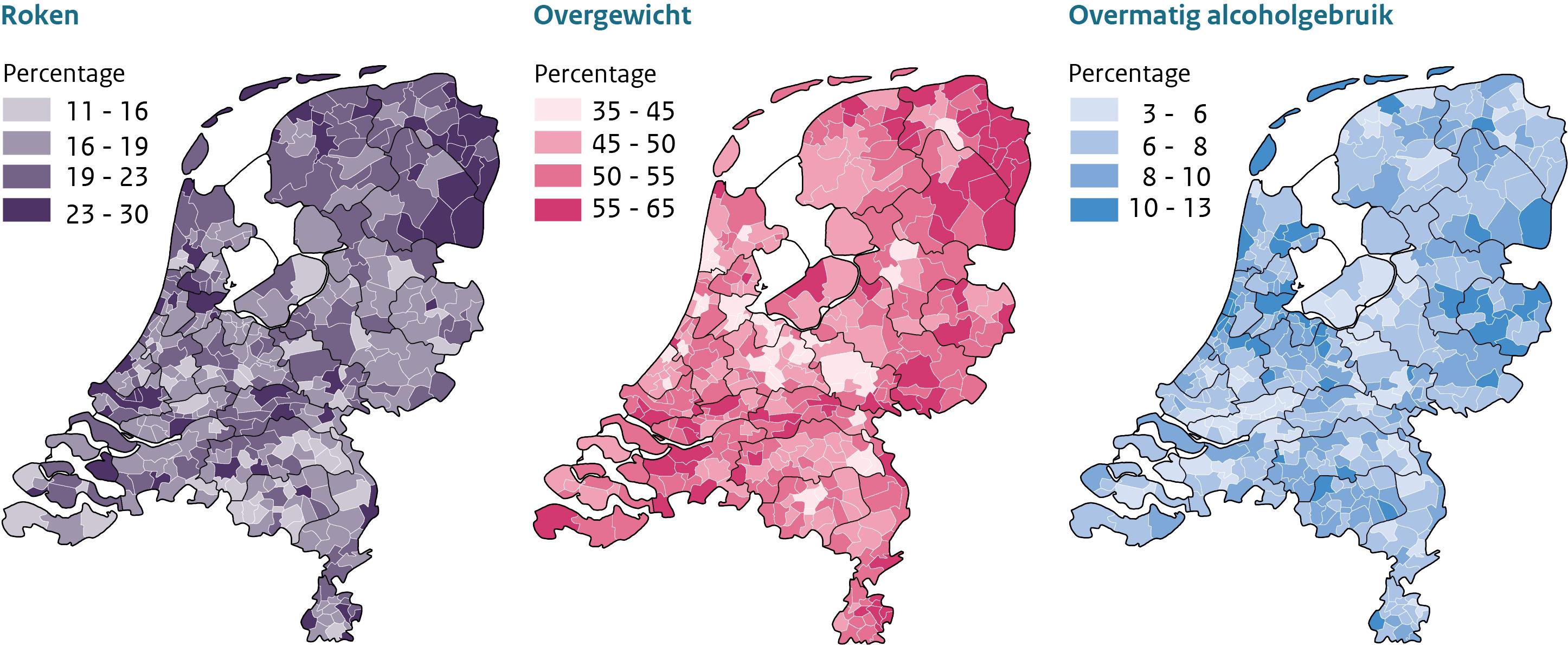 Sterfte 2013-2016 per gemeente
